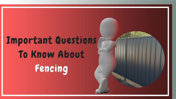 Important Questions To Know About Fencing  If you are a resident of Perth and want to build a fence between your property and that of your neighbour, you don't need to argue forever about how it should be done or who will pay. Just go through these important obligations to know everything.  #fencing #fencingrepair #FenceContractor