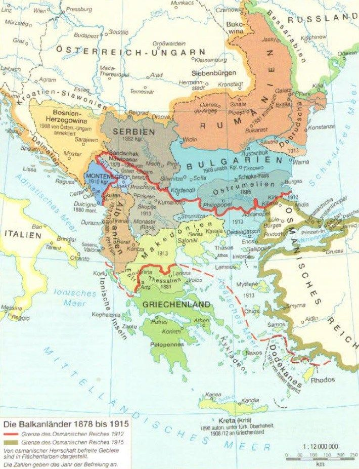 Die Balkanlander 1878 Bis 1915 Serbien Bosnien Griechenland