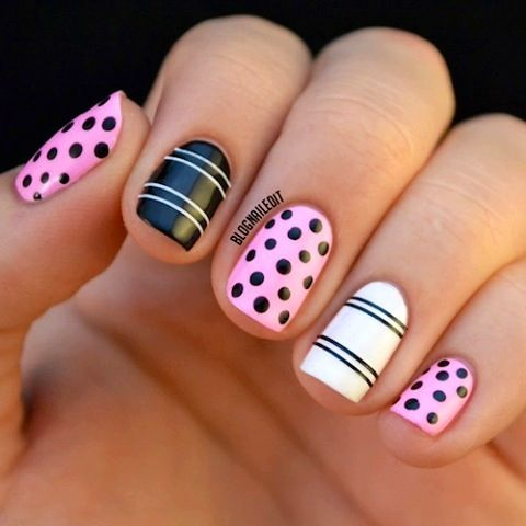 Pretty easy nails design Free Nail Technician Information http://www.nailtechsucce...