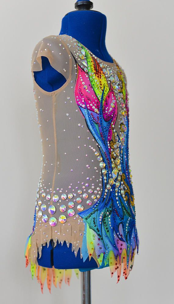 Rhythmic gymnastic leotard Avatar Video: https://youtu.be/QjySgNgXFQ8 New In the production used: 1. Hand-painted on fabric. 2. stones ( crystals ) DMC AB Luxury class. Rhinestones (Hot Fix) - 2500 units, Rhinestones (Sew-On Stone) - 114 units. 3. supplex and net - production of Italy.