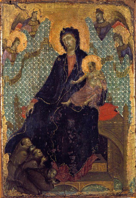 Duccio Di Boninsegna, Madonna dei Francescani (cm. 23,50 x 16,9). In questo caso le misure sono importanti!