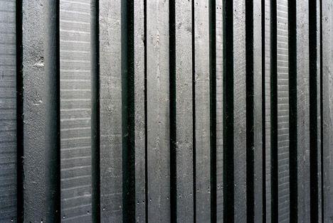 Alternating width, shou sugi ban reverse board & batten siding.- Villa Musu…
