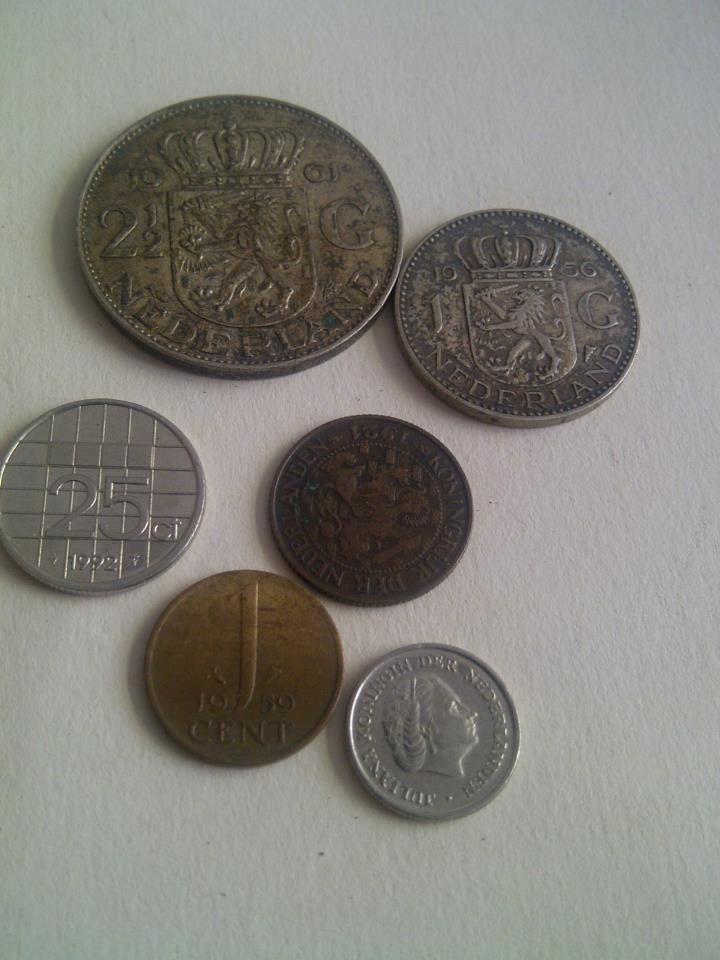 onze oude munten helaas geen betaalmiddel meer