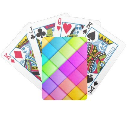 Colorful Retro Pattern Bicycle Playing Cards - summer gifts season diy template ideas