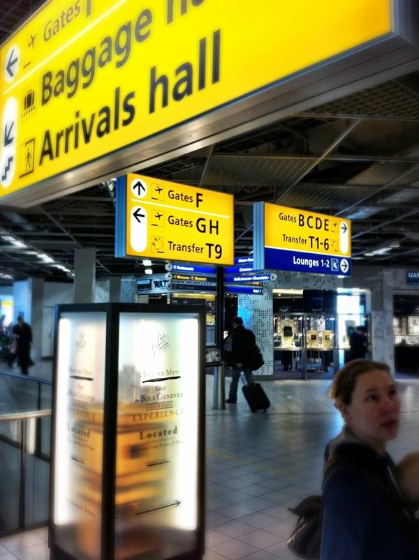 Frutiger Airport Signs from 151 best CDG