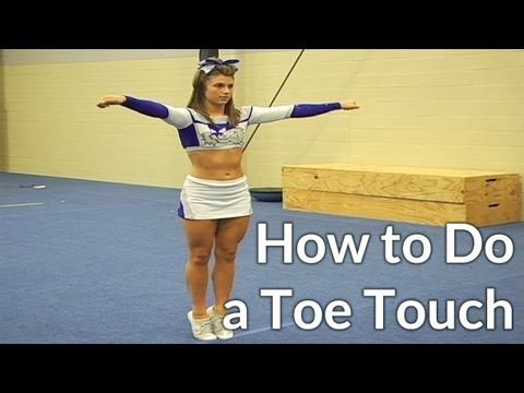 Cheerleading: How to Do a Toe Touch and how to improve it