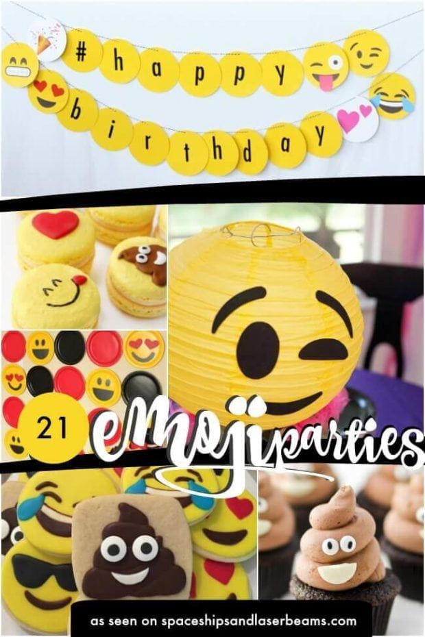 Emoji Birthday Party Ideas Supplies Decorations Cakes And Cookies