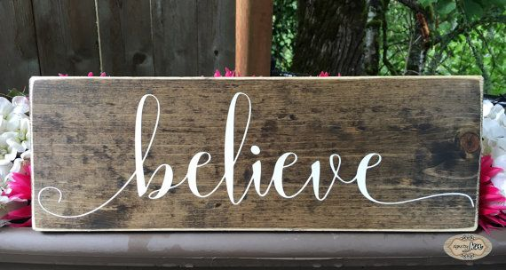 believe sign  Christmas sign Christmas decor  by SignsbyJen