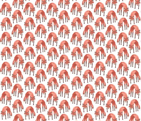 LOVE THESE!!! Sneak-Sneak Foxes fabric by nightgarden on Spoonflower - custom fabric