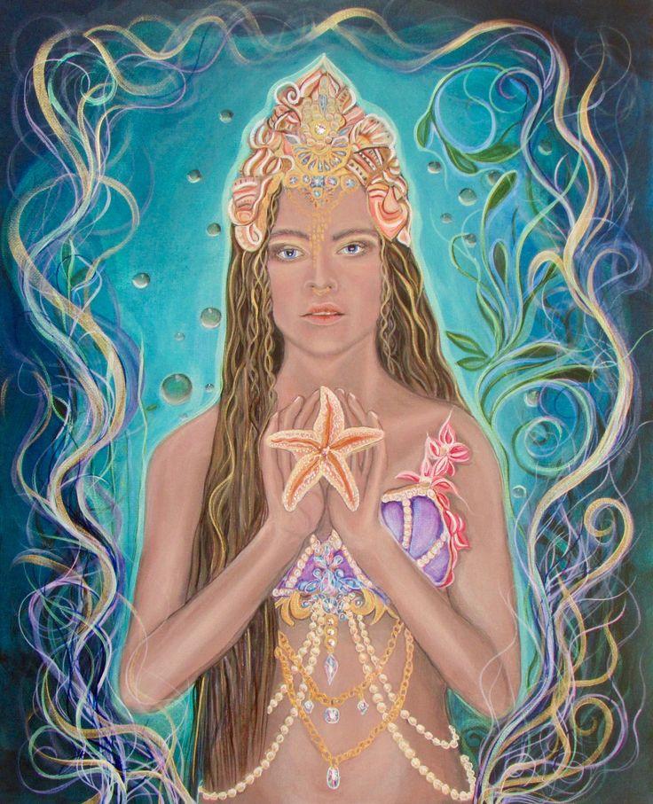 Goddess of the Sea. Painting by Angel Fritz Angel4joy.com