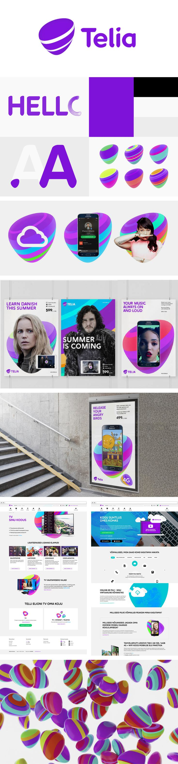 More corporate-designs are collected on: https://pinterest.com/rothenhaeusler/best-of-corporate-design/ · Agency: Wolff Olins · Client: Telia Company #branding #identity #corporatedesign