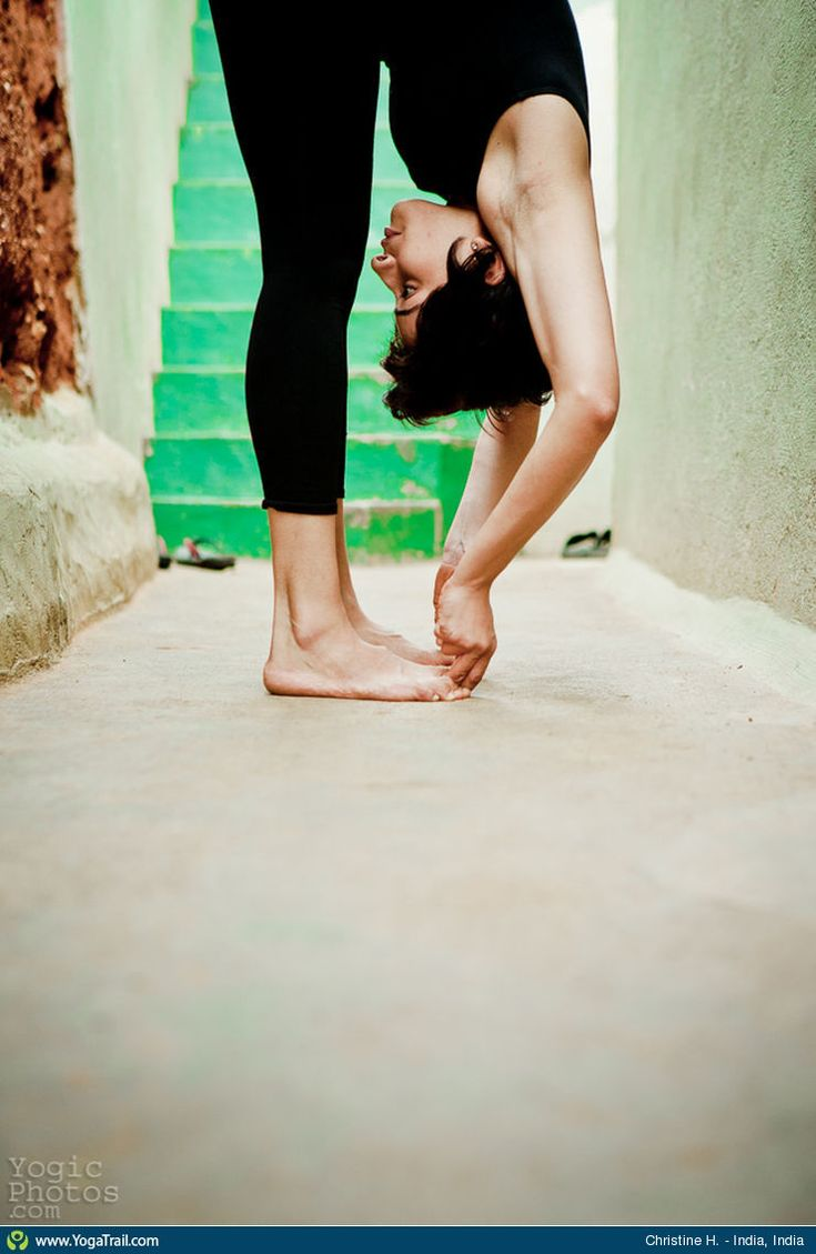 #Yoga Poses Around the World: Standing Forward Bend taken in India, India by Christine Hewitt
