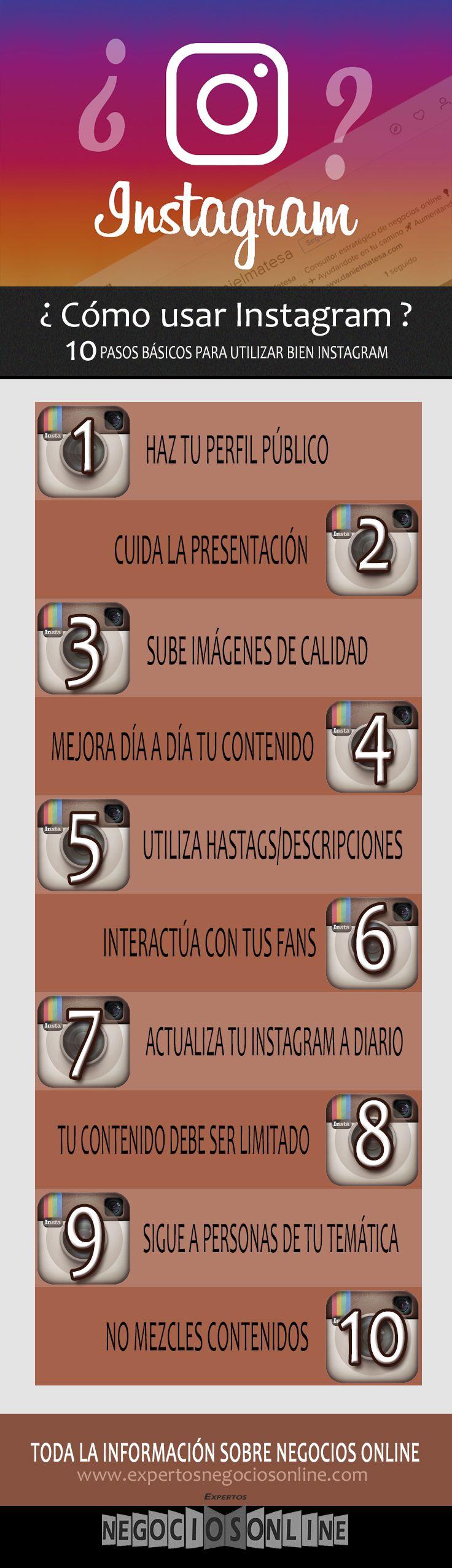 infografia de trucos sobre como usar instagram. Estrategia de redes sociales para promocionar tu pequeño negocio.