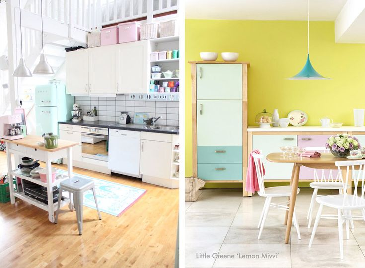 Cucina color pastello  #pastel #color #inspiration #home #kitchen