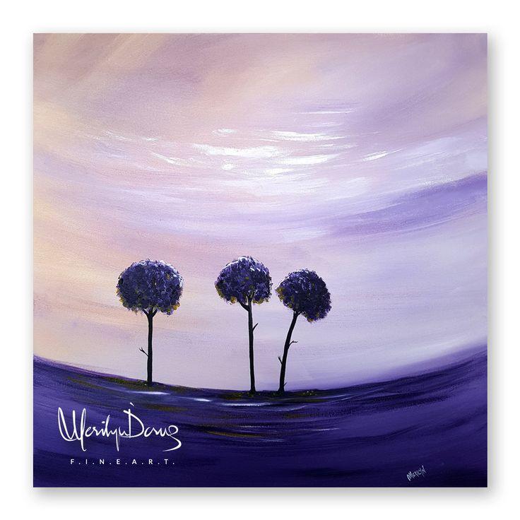"24""x24"" Acrylic Painting, Original Artwork, Purple Trees, Landscape Painting, Abstract Trees, Desert, Nature, Wall Art, MerilynDcruzFineArt by MerilynDcruz on Etsy"