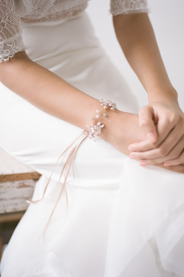 Bride La Boheme | Sophie Gold  bridal bracelet #bridalheadpieces #weddingaccessories #bridelaboheme ( Instagram @bridelaboheme)