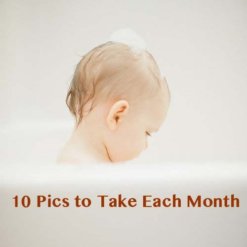 Babies change so quickly! You can't slow time, but recording that growth and change each month with your camera will result in keepsakes you'll treasure forever. Click through for ten key pics photographer Jennifer Little recommends taking regularly.