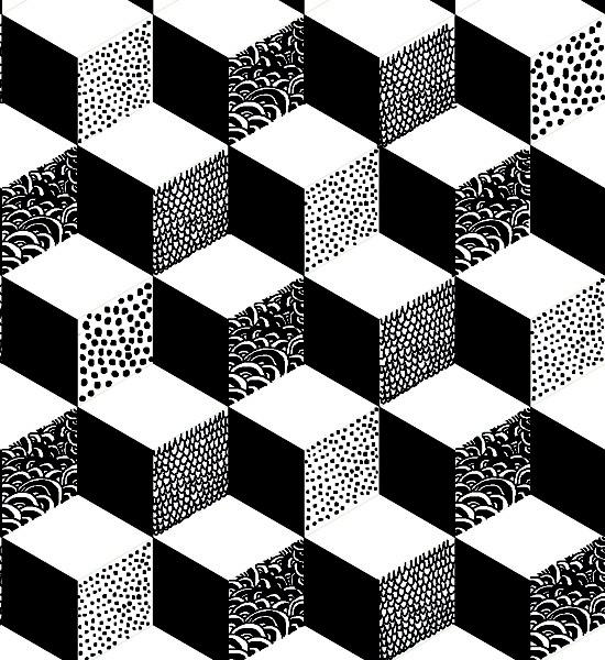 Geometric Print - geometric pattern by helene druvert