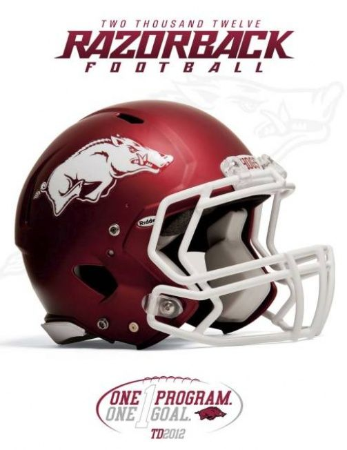 The 2012 University of Arkansas Razorback football media guide is now available for viewing. Description from razorbloggers.net. I searched for this on bing.com/images