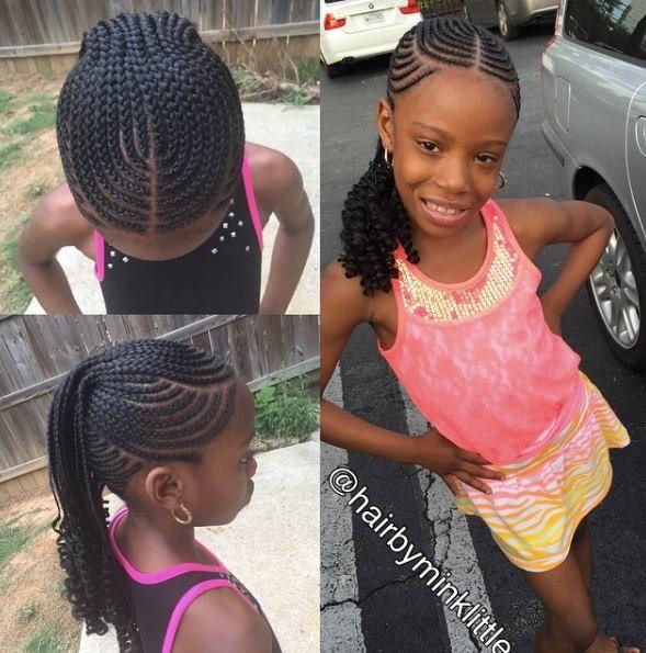 Best 25 Kids Braided Hairstyles Ideas On Pinterest Lil