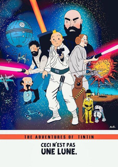 Galaxy Fantasy: Fan art, Star Wars: Las aventuras de Tintín
