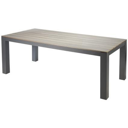 Table de jardin central park 39 bruno 39 rectangulaire bois alu 210 x 100 - Table de jardin brico ...