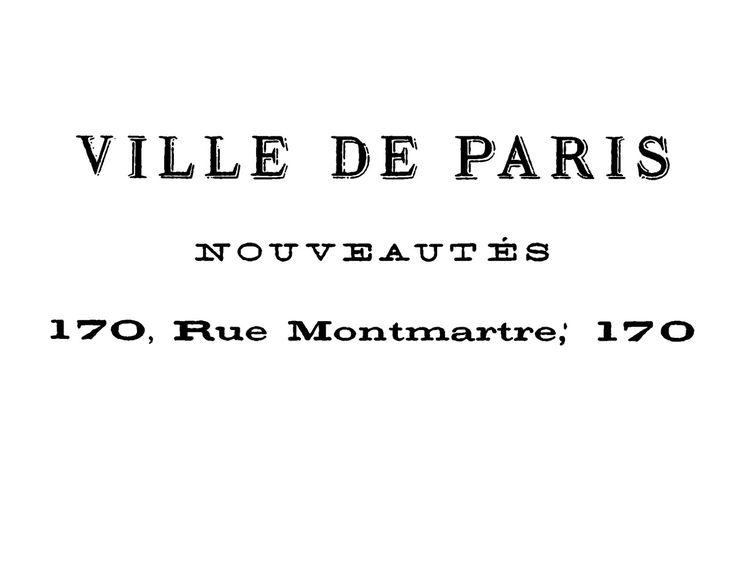 French Transfer Printable - Ville de Paris - The Graphics Fairy