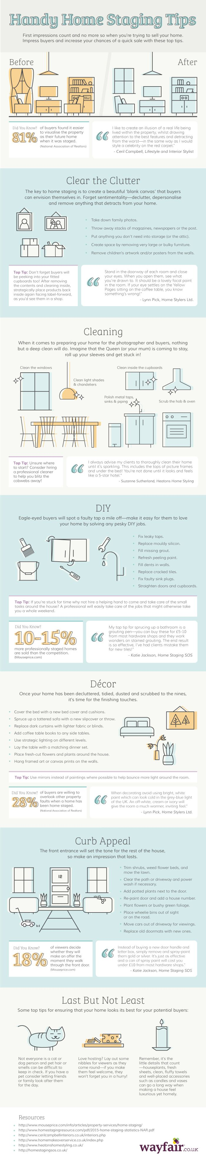Handy Home Staging Tips #infographic #HomeImprovement
