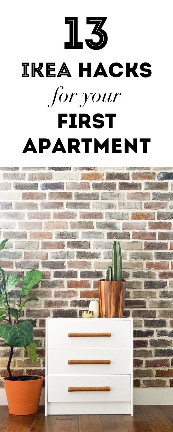 13 chic IKEA hacks for your first apartment.