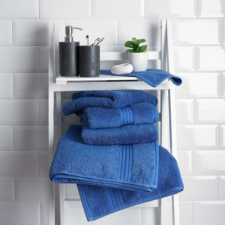 Royal Blue Egyptian Cotton Towel | Dunelm