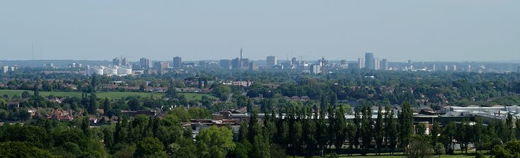 Birmingham panorama from the Lickey Hills #england #birmingham