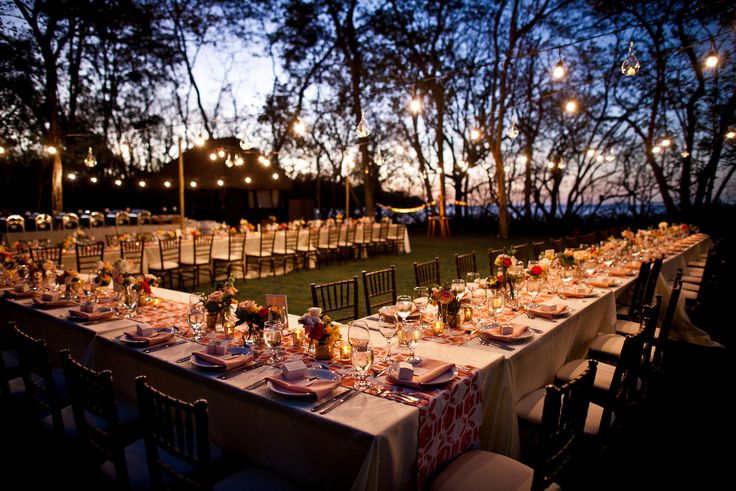 u shaped wedding table | Real Wedding – Jenna & Esteban at Reserva Conchal Beach Club, Costa ...