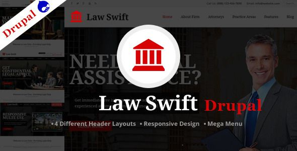 Law Swift -Multipurpose Drupal Theme . Solveto is a business and corporate theme. Its simple and clean HTML5 & CSS3 Template. Its a full responsive theme built with