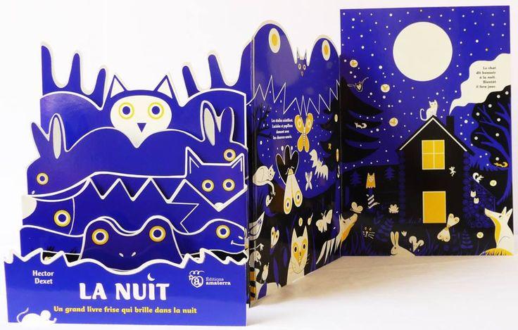 Hector dexet illustration Portfolio : - La nuit- un livre phosphorescent