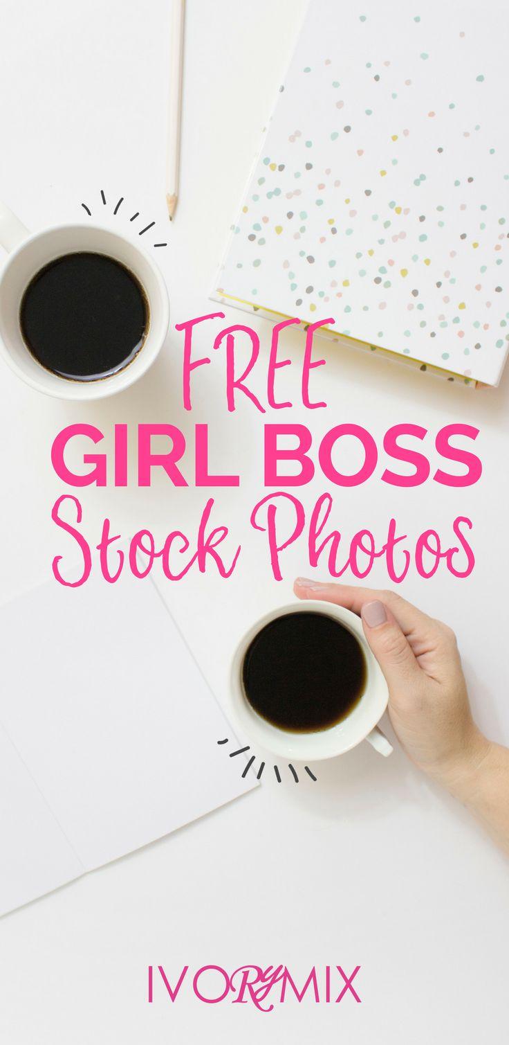 Free girl boss feminine stock photos for your blog