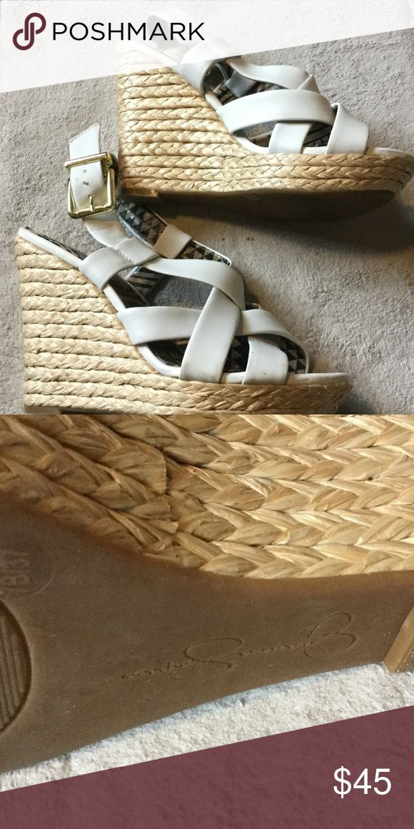 Never been worn Jessica Simpson wedges White wedges Shoes Wedges