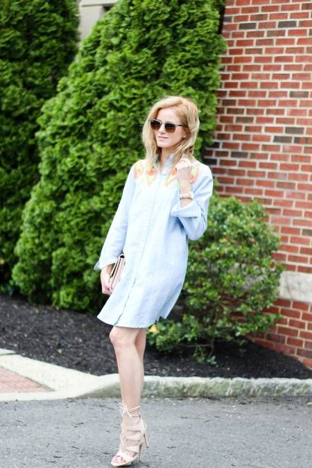 Maybe In Mexico Dress, Chambray || The Mint Julep Boutique