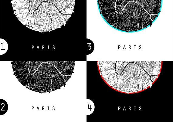 Paris Map Italy Map Europe Map Black And White Map