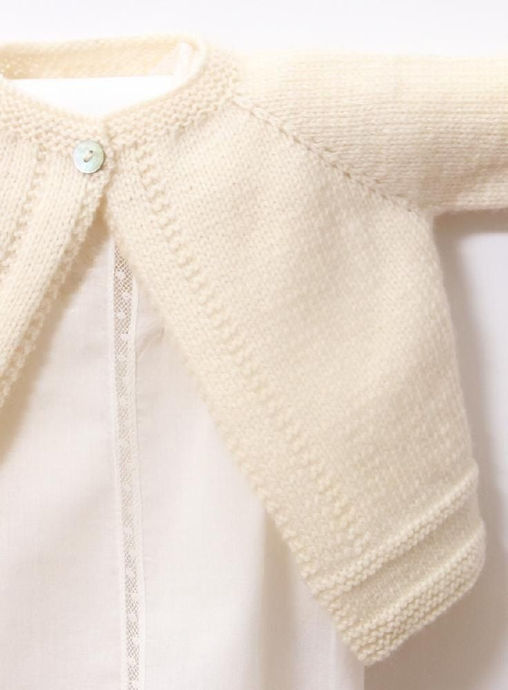 Baby Cardigan / Knitting Pattern Instructions / PDF Instant Download5 Sizes : Newborn / 3 / 6 / 9 and 12 monthsMaterials : Wool Plassard Boud'chou 100 % Merino wool Fingering 4 ply - 50 g balls - 224 yards (205 meters) 2 / 3 / 3 / 4 / 4 Balls One pair each 2,5 mm (US 11/2) and 3 mm (US 21/2) knitting needlesCircular needles 2,5 mm (US 11/2) and 3 mm (US 21/2) or 2 stitch holders 1 little button Gauge : Using 3 mm needles, 38 rows x 28 sts. = 10 cm over Stocking stitch.Instructions are given…