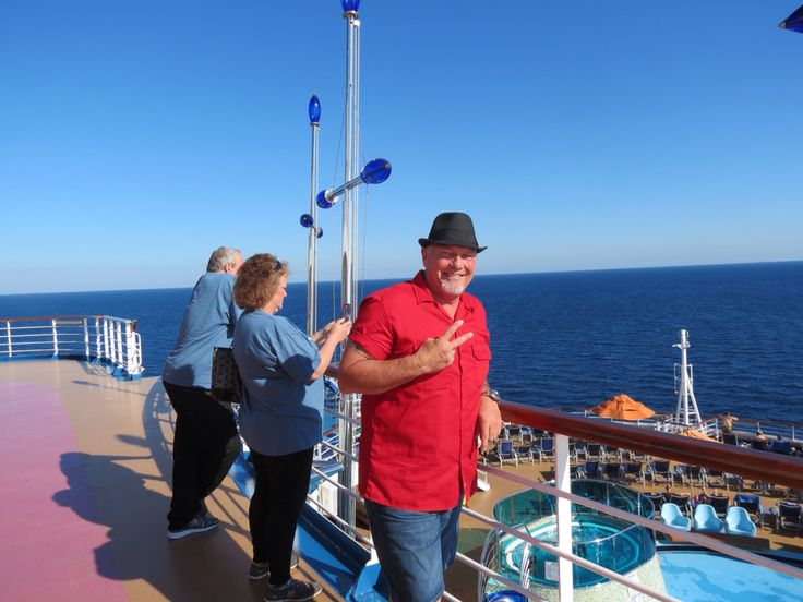 Robert , Laura and Roger on cruise ship