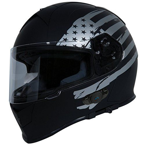 Torc T14B Bluetooth Integrated Mako Full Face Helmet with Flag Graphic (Flat Black, Medium) - http://www.caraccessoriesonlinemarket.com/torc-t14b-bluetooth-integrated-mako-full-face-helmet-with-flag-graphic-flat-black-medium/  #Black, #Bluetooth, #Face, #Flag, #Flat, #Full, #Graphic, #Helmet, #Integrated, #Mako, #Medium, #T14B, #TORC #Helmets, #Motorcycle