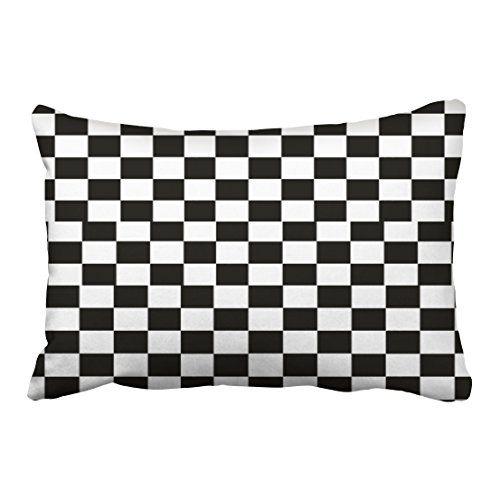 White Gingham Pattern Throw Pillow