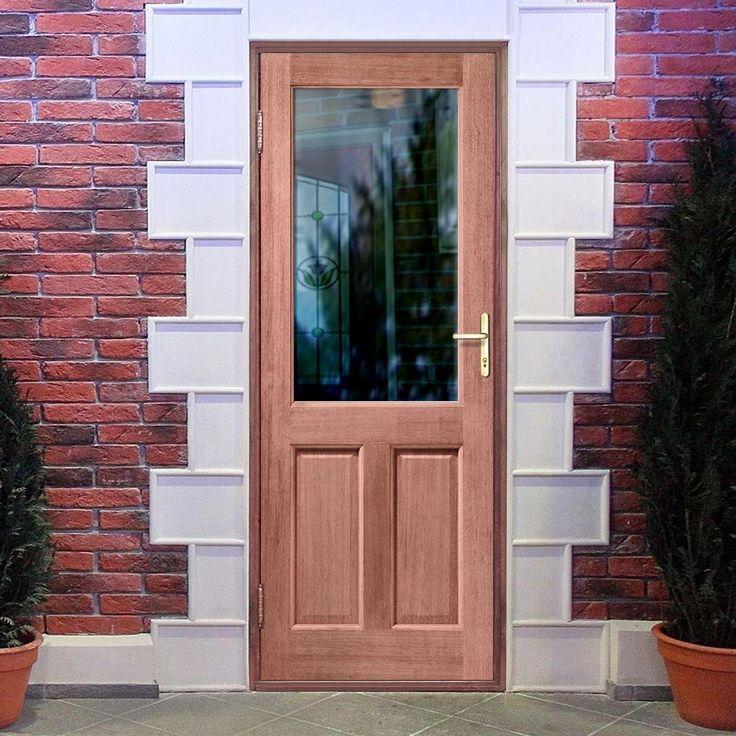 2XG style exterior hardwood door, dowel jointed with Clear safety single glazing. #traditionalmahoganydoor #externaldoor #frontmahoganydoor