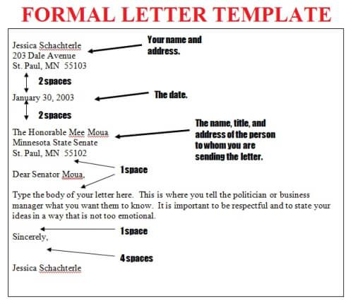 Formal Letter Layout Template | Letter Template 2017