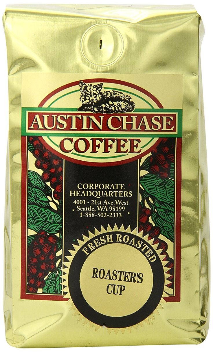Austin chase coffee company roasters cup ground coffee