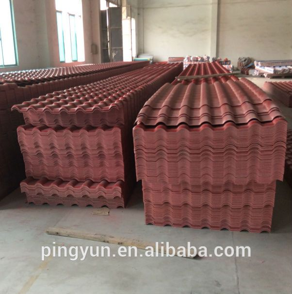 multiple layer composite plastic roofing panel/ASA+PVC roof sheet/Spanish type roof tile