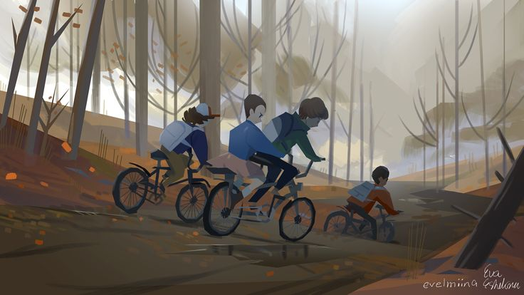 Gaming+ landscape digital paintings on Behance