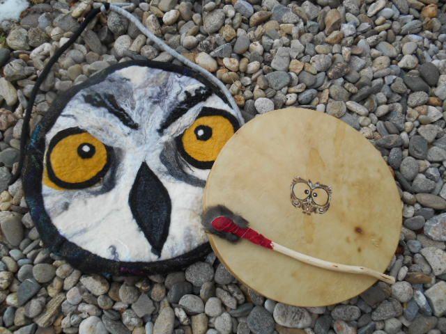 Die andere Seite meiner Trommeltasche mit Trommel