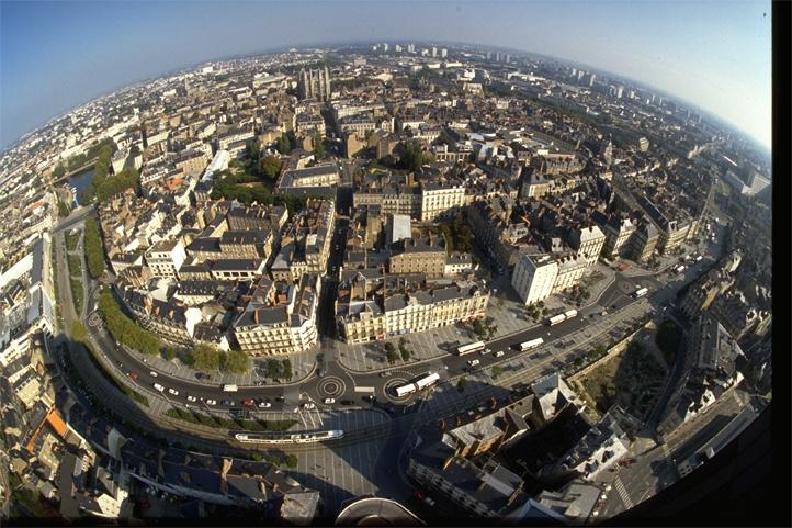 Vue panoramique Nantes - Volotéa