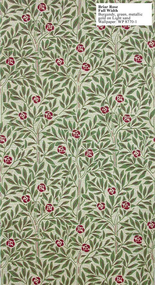 Craftsman reproduction wallpaper briar rose this design for Design reproduktion